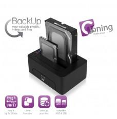 EW7014 Docking Station USB3.1 HDD/SSD SATA da 2,5 e 3,5 pollici