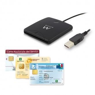 EW1052 Lettore Smart Card USB per firma digitale, carte servizi