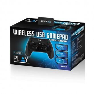 PL3331 Gamepad Joypad Wireless per PC con batteria ricaricabile